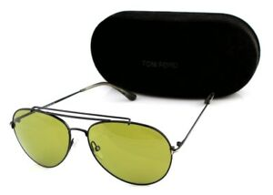 5c50d14858 Image is loading RARE-Genuine-TOM-FORD-INDIANA-Black-Green-Aviator-