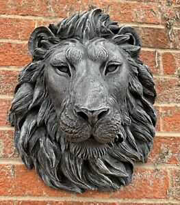 STONE-GARDEN-LARGE-DETAILED-LION-HEAD-WALL-HANGING-PLAQUE-ORNAMENT