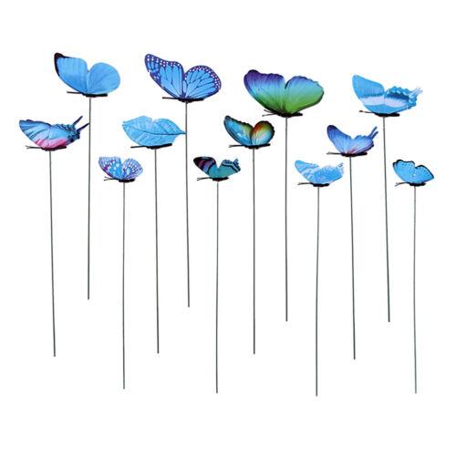 12er Gartenstecker Schmetterlinge auf Stöcken Gartenstecker für Garten