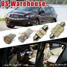 12-pc Luxury White Led Light Interior Dome Package Kit For 13-14 Infiniti JX35