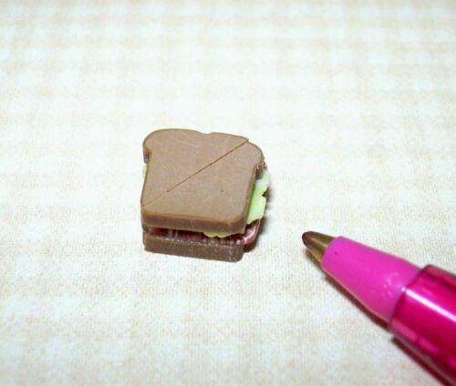 Miniature Lola Ham and Cheese on Rye Bread Sandwich DOLLHOUSE 1:12