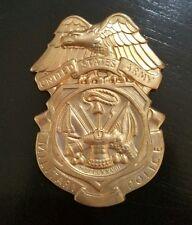 Military police BADGE BLANK  BRASS STAR  BADGE OBSOLETE