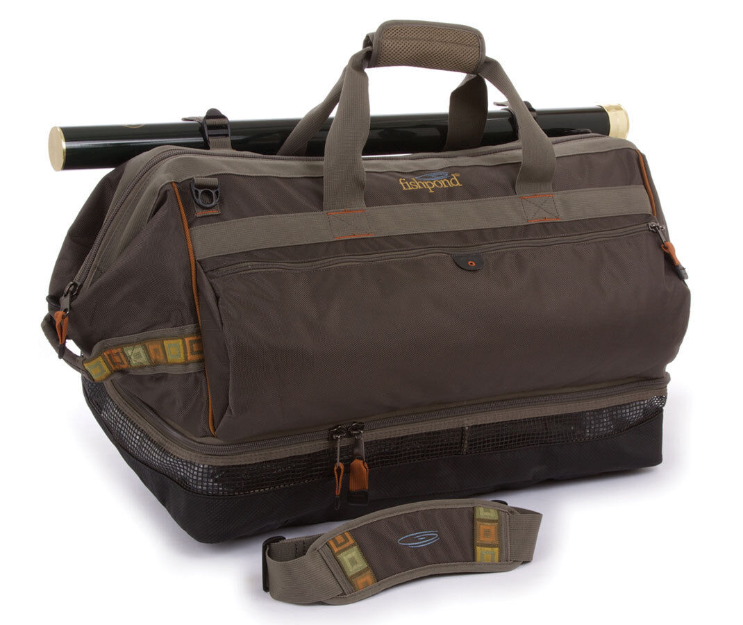 NEW FISHPOND CIbrown WADER DUFFEL FISHING  BAG STONE COLOR FREE US SHIPPING  wholesale store