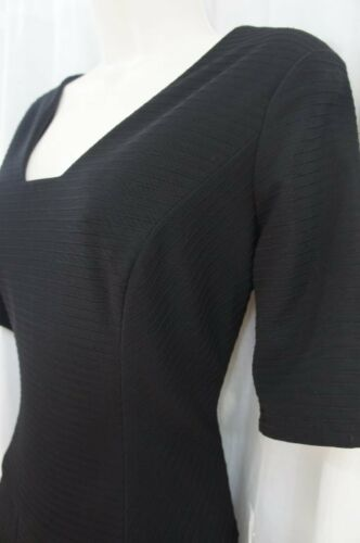 courtes à uni Klein 6 Dress manches cocktail Anne Sz d'affaires noir Dîner z7wv0q