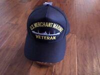 U.s Merchant Marine Veteran U.s Navy Ship Hat Official U.s Military Ball Cap Us