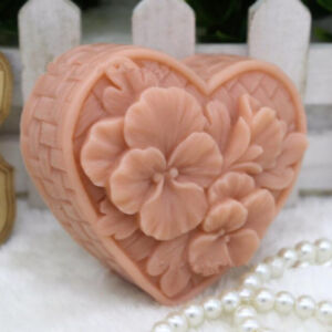 Heart-Shaped-Flower-Mold-Silicone-Bar-Soap-Mold-for-Diy-Craft-Handmade-Soap