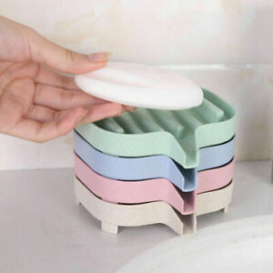 Home Water Draining Soap Dish Case Holder Drainer Soap Saver Stand Storage Box