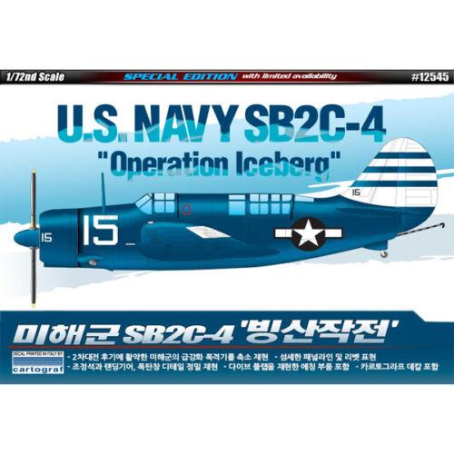 Academy US Navy SB2C-4 Operation Iceberg Plastic Model Kit 1//72 Limited 12545