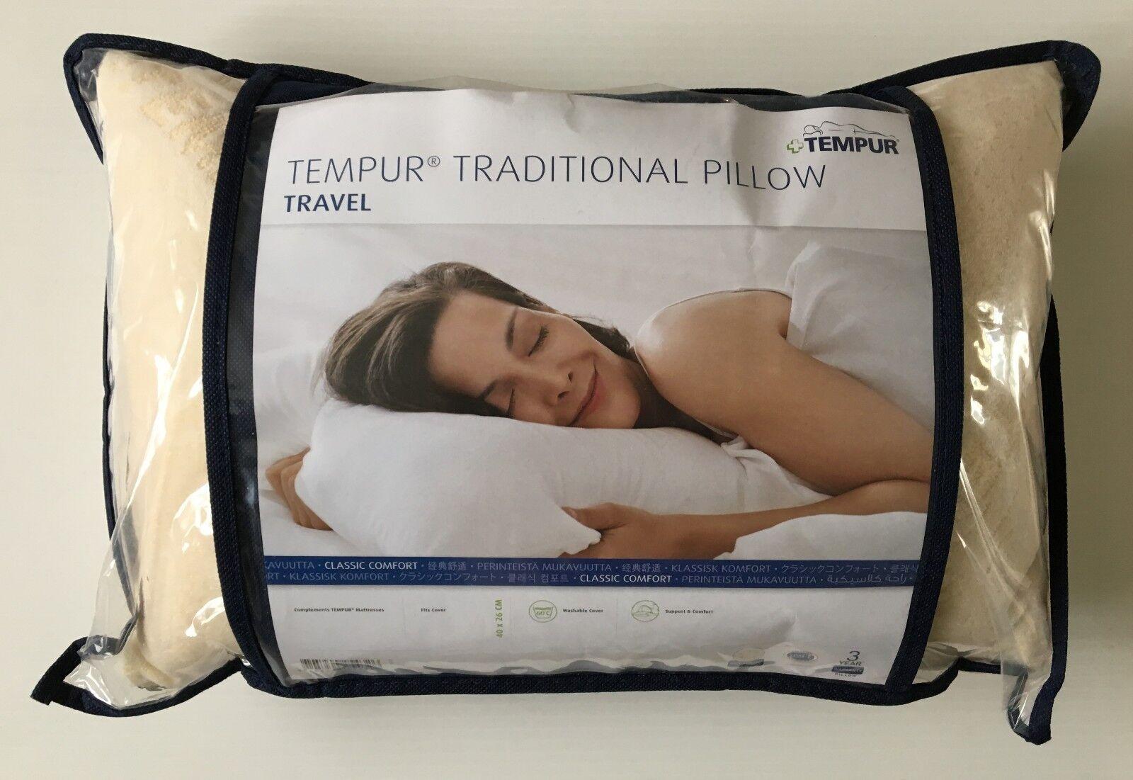 TEMPUR Classic Cuscino Da Viaggio Volo Lavabile Comfort Custodia