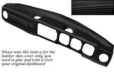 BLACK STITCH DASH DASHBOARD LEATHER SKIN COVER FITS ALFA ROMEO ALFETTA GTV