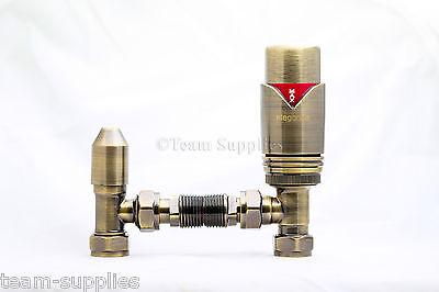 """ANTRACITE angolo TRV Termostatico Angolato Valvole per Radiatori COPPIA 15mm x 1//2/"""" CAMPER"""