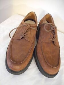 Image is loading ROCKPORT-mens-brown-casual-laceup-oxford-nubuck-shoes-
