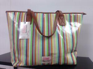 STONE-Multicoloured-Designed-in-England-Tri-Holywell-Bay-Medium-Shopper-Handbag
