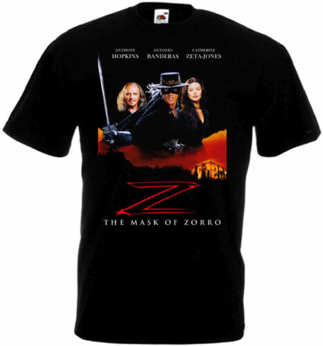 The Mask of Zorro T-shirt black Movie Poster all sizes S...5XL