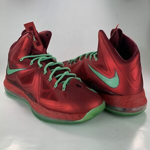Lebron Christmas 10.Details About Nike Lebron X 10 541100 600 Christmas Pack Red Tourmaline Size 11