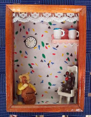 Humorvoll Nostalgische Kleindeko Puppenstuben Deko Aus Holz,handgefertigt, Bemalt ,neu,ovp