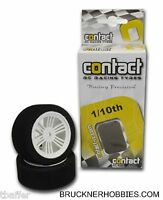 Contact 1:10 Rc Foam Touring Car Mounted Tires (2) Front 26mm, 42 Shore 14203