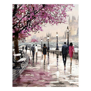 Details About Cherry Blossoms Ink Canvas Oil Painting Wall Art Home Bedroom Decor Au