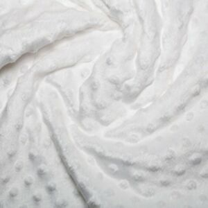 White-Supersoft-Soft-Bubble-Dimple-Fleece-Baby-Quilt-Nursery-Decor-Fabric-Spot