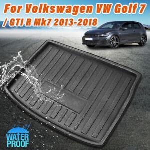 Trunk-Mat-Floor-Tray-Carpte-Cargo-Boot-Liner-For-VW-Golf-7-GTI-R-Mk7-13-18