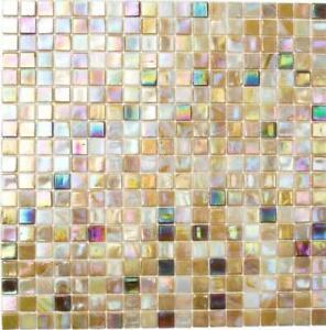 Détails sur Glasmosaik beige IRISIEREND sandfarbend carrelage cuisine  miroir salle de bains WC 58-1204- afficher le titre d\'origine