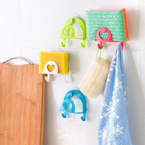 Cute Sponge Holder Suction Cup Convenient Home Kitchen Holder Tools Gadget .,t