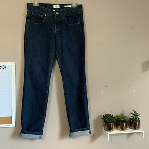 Madewell Skinny Low Worker Mid Rise Dark Wash Blue Jeans Womens Size 27