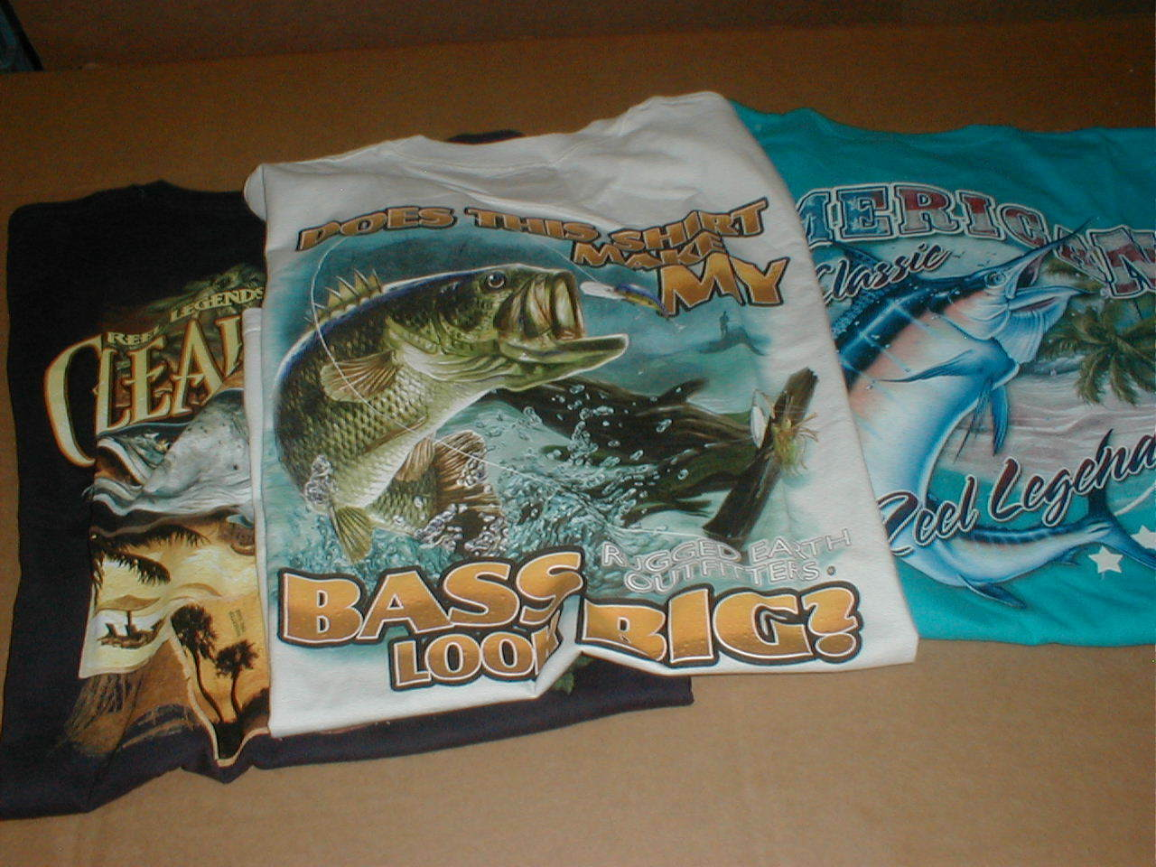 3 Reel Legend Clearwater FL Coast XL T-shirt Fishing NEW short sleeve NOS
