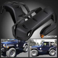 """6PC 97-06 Jeep Wrangler TJ 7"""" Wide Black Pocket Extended Fender Flares Kit"""