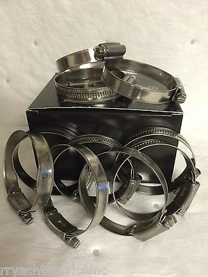 """HOSE CLAMPS  316 STAINLESS SIZE 6 MIN 1//2/"""" MAX 7//8/"""" BOX 10 13620 SCANDVIC"""