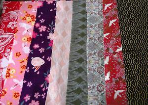 lot-8-coupons-tissu-coton-20-X-20-cm-dont-japonais-Iawn-Miroto-Kokka