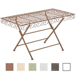 Table de jardin JOSEFA – rectangulaire romantique métal classique ...