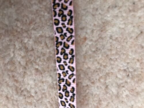 CATS PINK ANIMAL PRINT RIBBON 10mm  wide CRAFT SUPPLIES,CARDMAKING,PETS DOGS