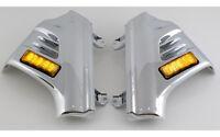 Gl1800 Chrome Fork Covers W/ Amber Leds Honda Goldwing & F6b, 2001+ (45-1293l)