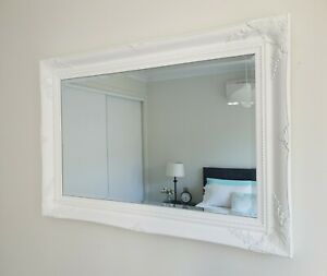 French-provincial-baroque-matte-white-beveled-wall-mirror-102cm-x-72cm