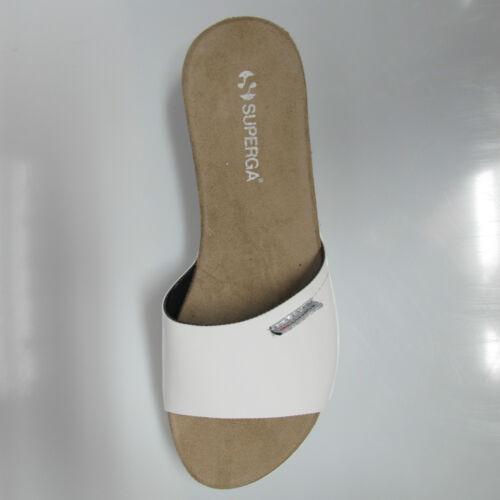 SUPERGA sandali donna con zeppa mod.S31P708 col.BIANCO vernice estate 2016