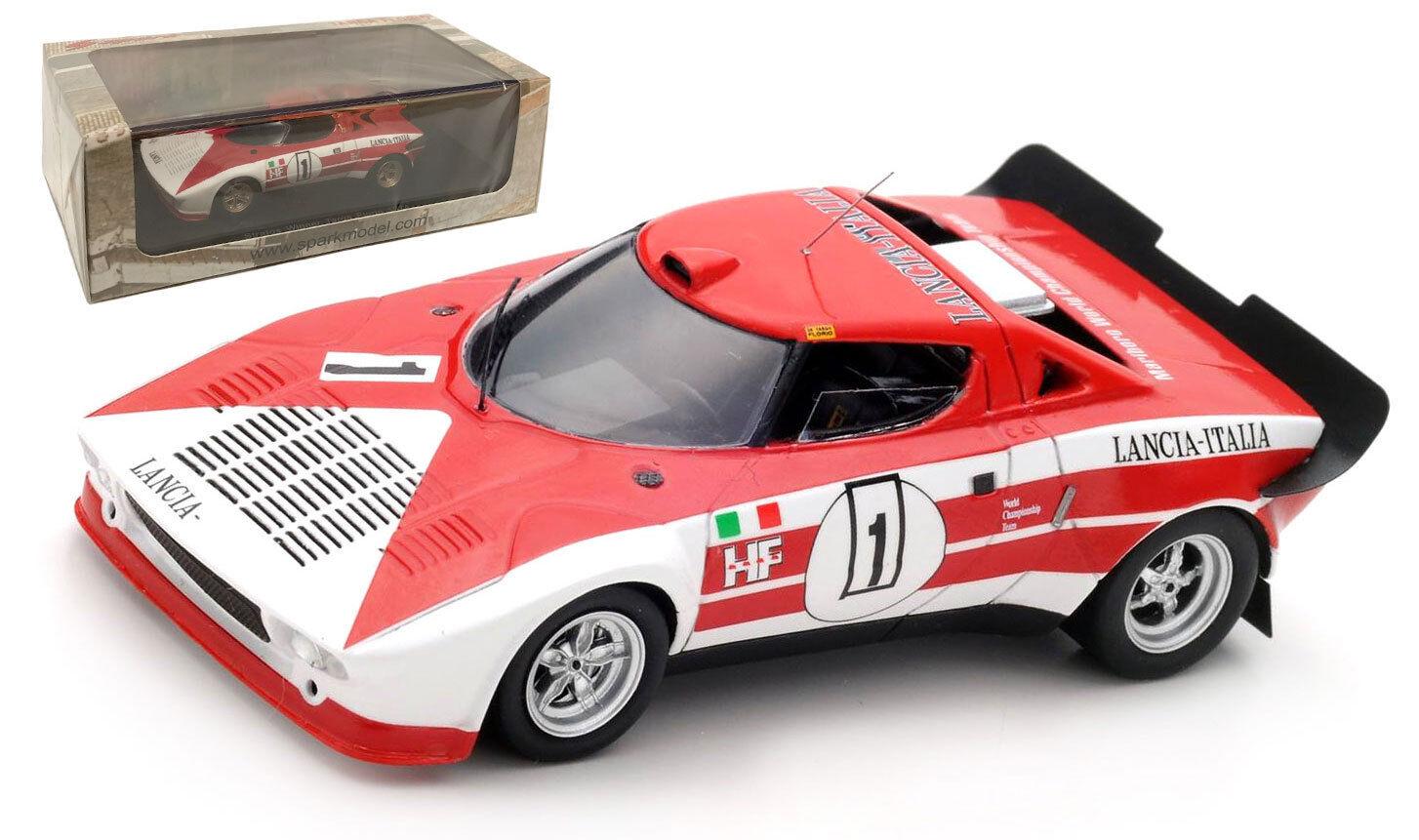 SPARK 43TF74 LANCIA STRATOS HF  1 Winner Targa Florio 1974-échelle 1 43
