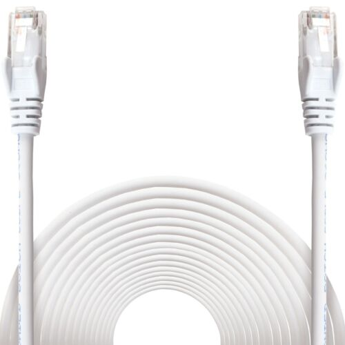 10m White ETHERNET CABLE Cat6 Internet Network RJ45 Patch Lead Snagless UTP UK