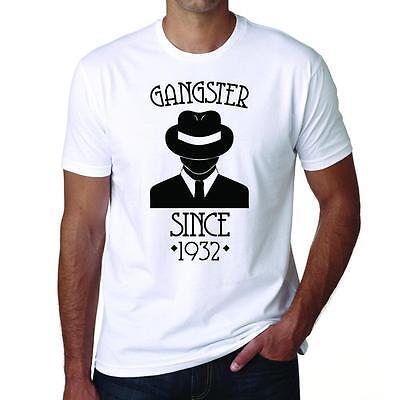 1932 Gangster Depuis, Gangster Tshirt, Gift Tee,cadeau T-shirt,hommes Blanc Tee