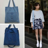Hot Korean Style Womens Denim Handbag Shoulder Bags Large Totes Hobo Shopper bag