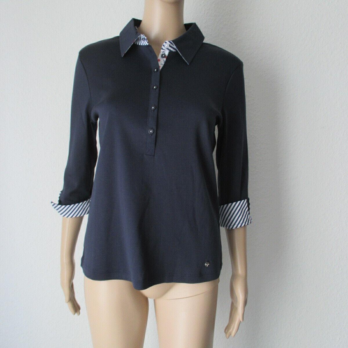 Efixelle Polo Shirt,  in blau, farblich abgesetzt, Größe 36