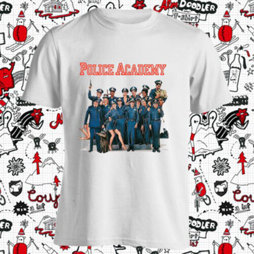 New Police Academy Classic Movie Logo Hommes t-shirt Blanc Taille S-3XL