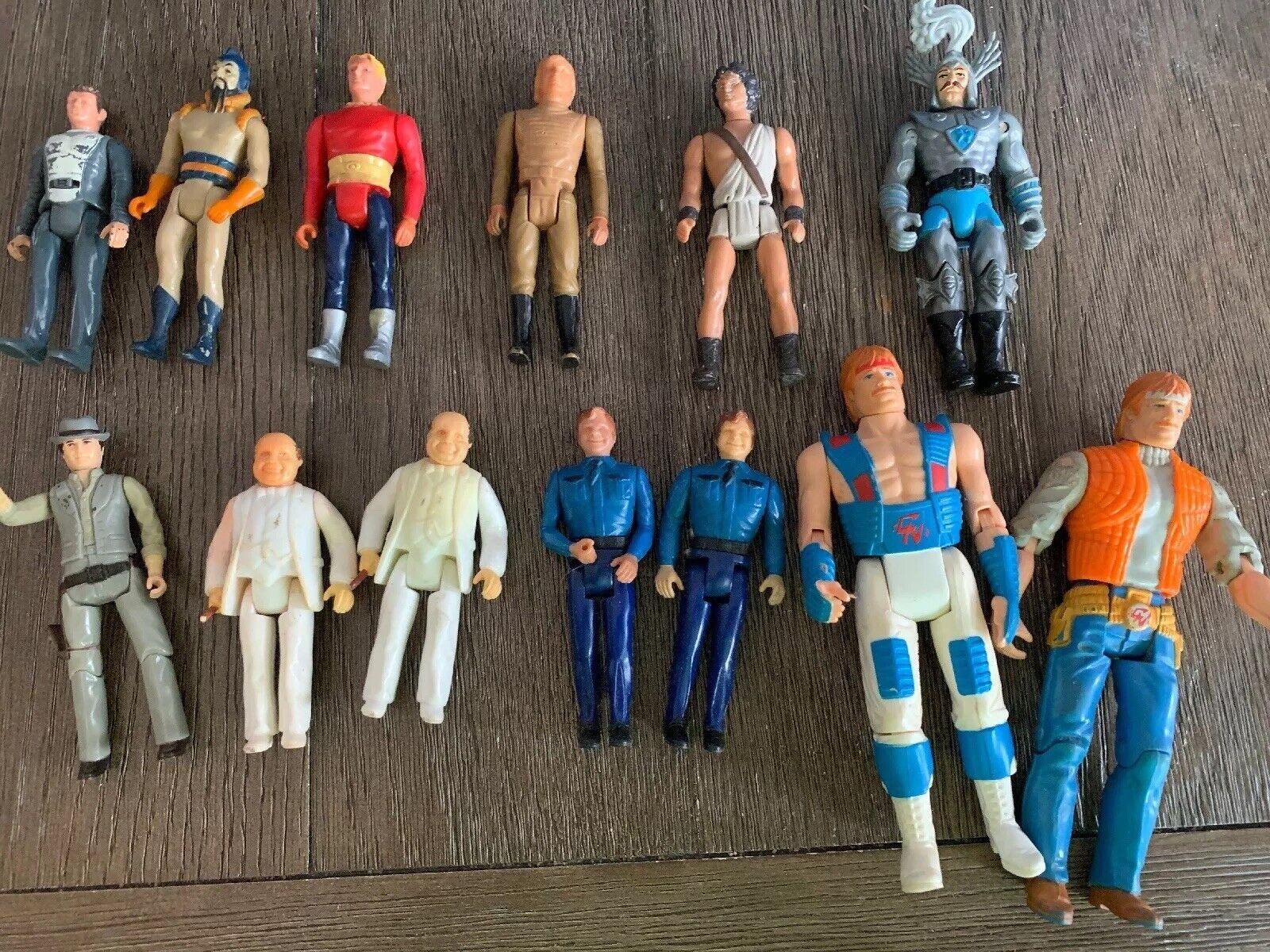 Década de 1980 Dukes of Hazzard Rosco Mego Mattel Flash Gordon Perseus Kenner Lot-13