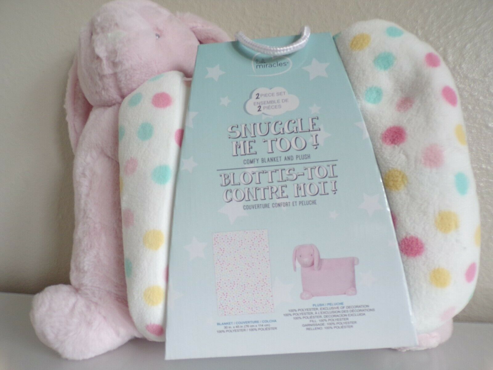 Little Miracles Sweet Snuggles Baby Security Blanket Puppy Dog Lovey Set Costco For Sale Ebay