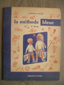 Corréard-chatel La Methode Bleue 1ER Folleto Nathan 1960 París ABE IN4