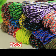 HOT sell 25/50/100FT 2mm Diameter Paracord Rope Parachute Cord CAMPING HiKING