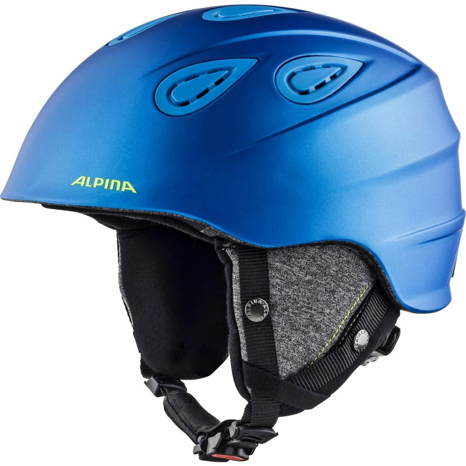 Alpina Erwachsenen Skihelm Grap 2.0 mit Lüftung bluee-neon matt