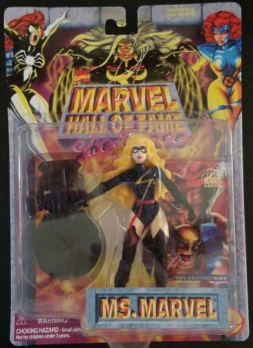 Vintage Toy Biz Marvel Hall Fame Exclusive Warbird Mme Marvel action figure Comme neuf on Card!