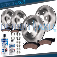 2001-06 Chevy GMC Silverado Sierra 1500 Front Rear Brakes Rotors HD Ceramic Pads