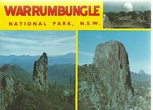 FOLD OUT VIEWS OF WARRUMBUNGLE NATIONAL PARK NSW POSTCARD